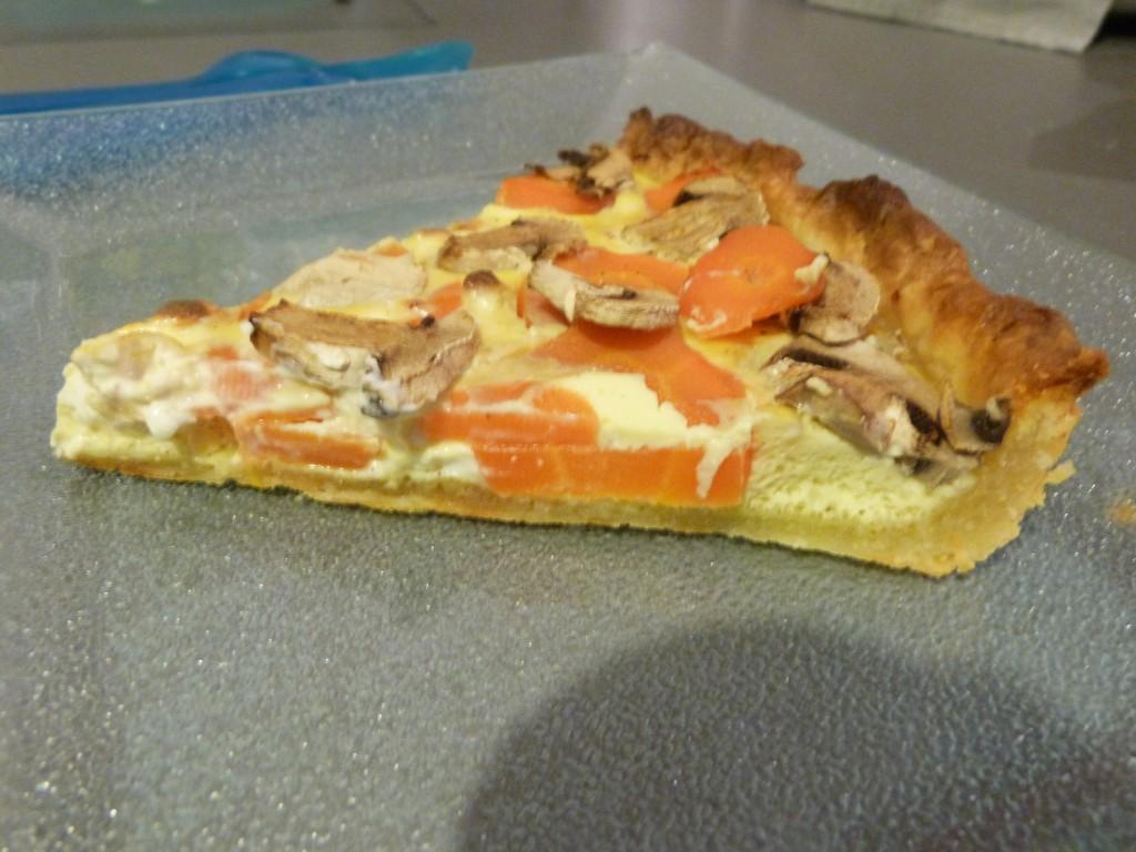 tarte feuilletée carottes champignons (5)