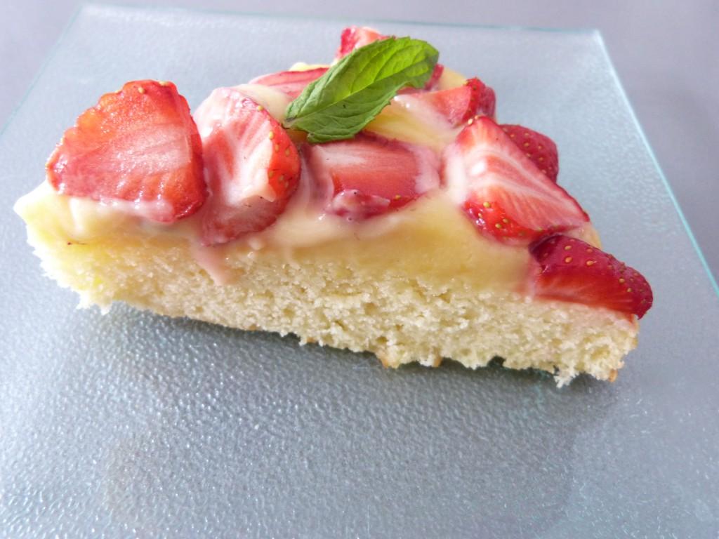 tarte fraises lemon curd menthe