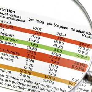 étiquette nutritionnelle tableau