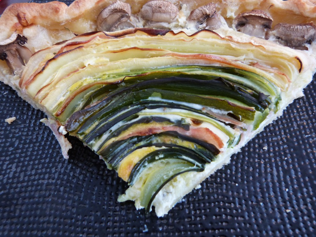 tarte courgette rosace bacon (2)