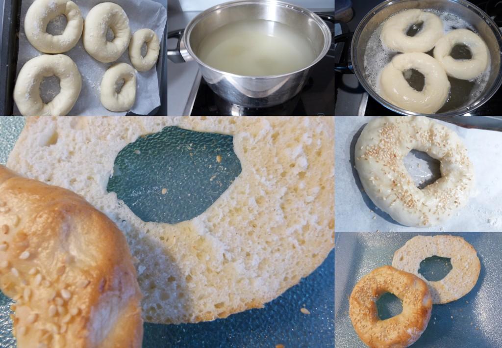 Bagels PAS A PAS cuisson