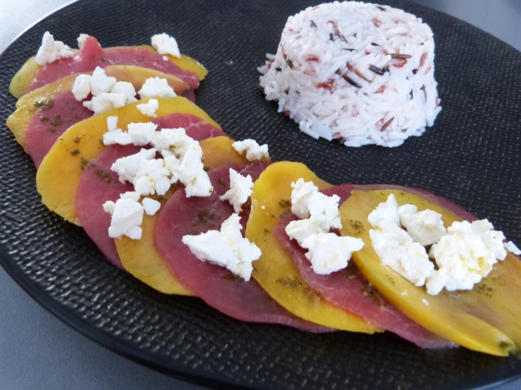 carpaccio boeuf mangue feta basilic (3)