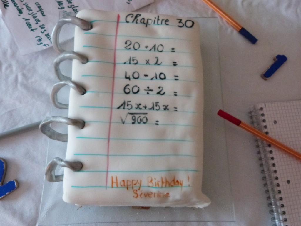 Gateau professeur de Mathématiques 30 ans (6)