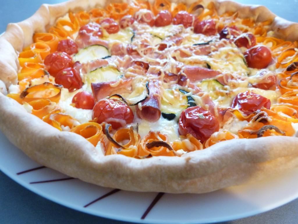 tarte rosace  carottes tomates cerises bacon (4)