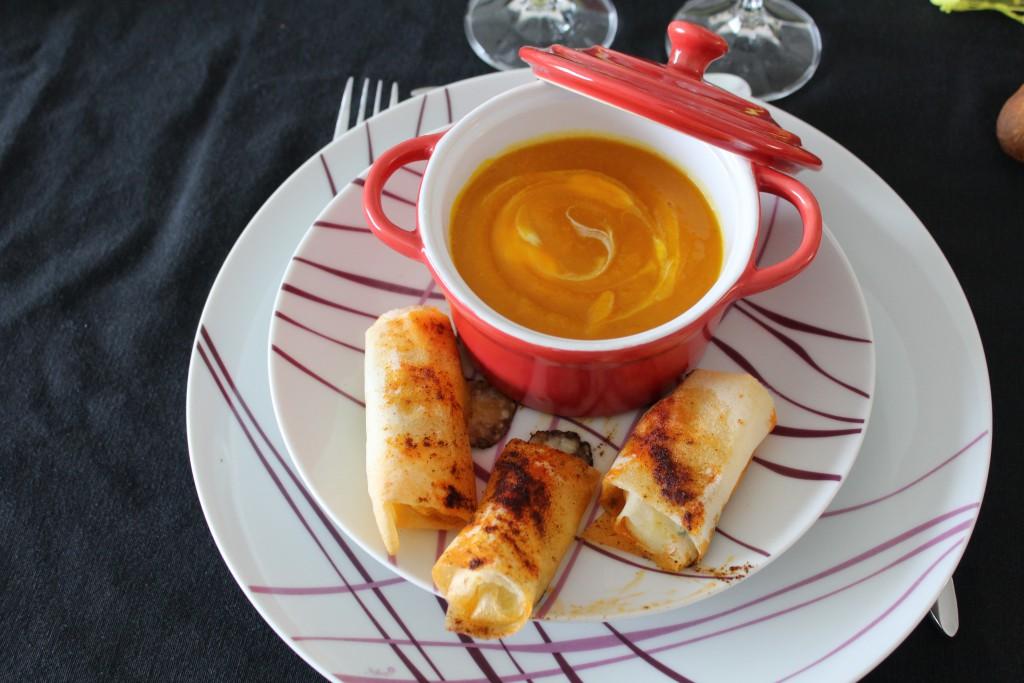 COCOTTE potimarron pommes crème et brick courgette (1)