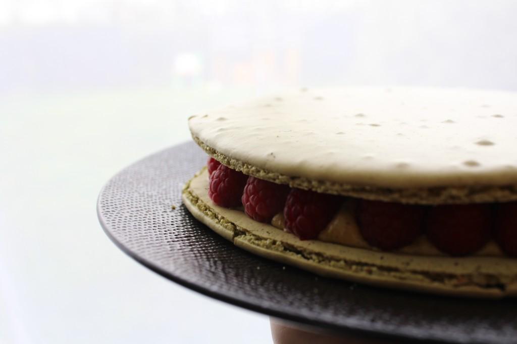 macaron géant pistache framboises FELDER (2)