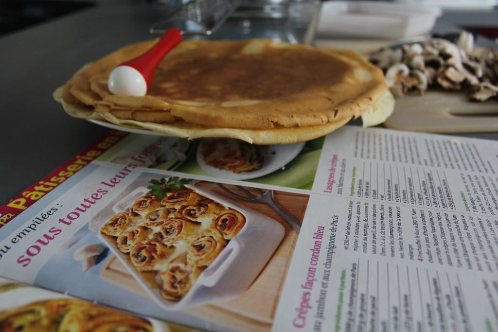 Gratin de crêpes au jambon fromage champignons bechamel (8)