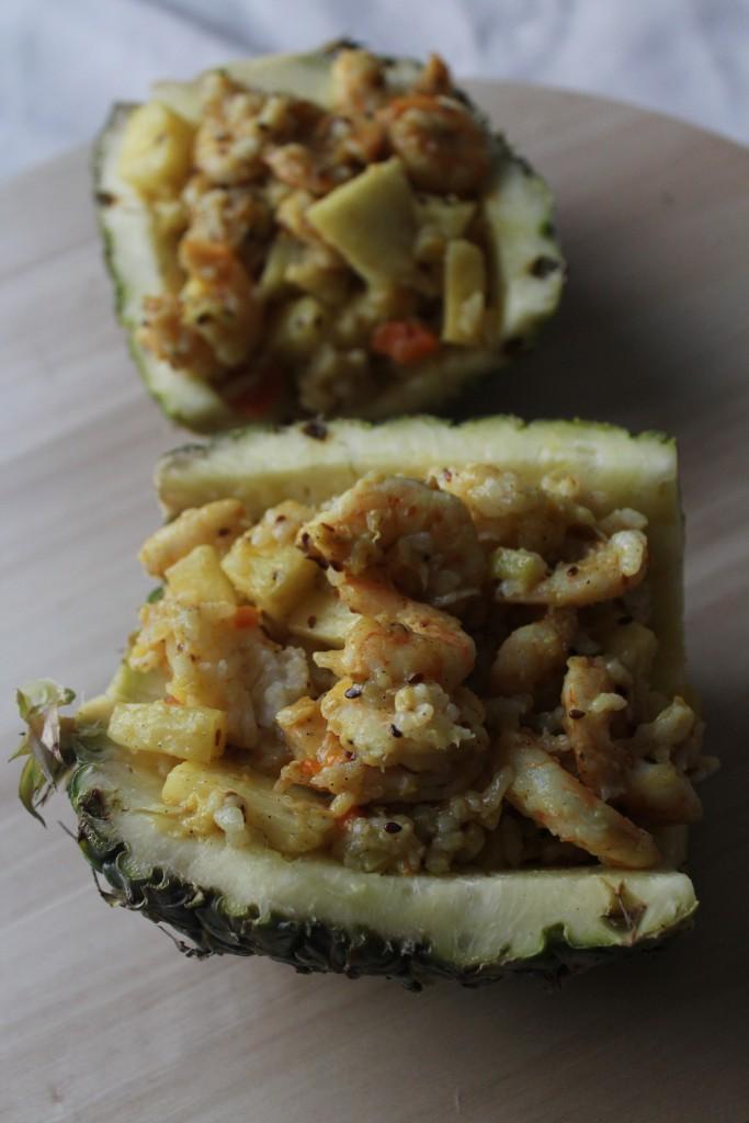 ananas farci aux crevettes (4)