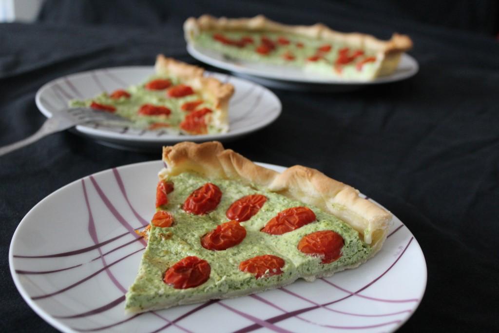 tarte-roquette-ricotta-tomates-cerise-2
