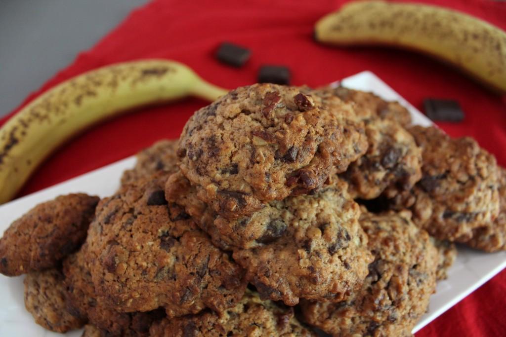 cookies chocolat banane noix (6)