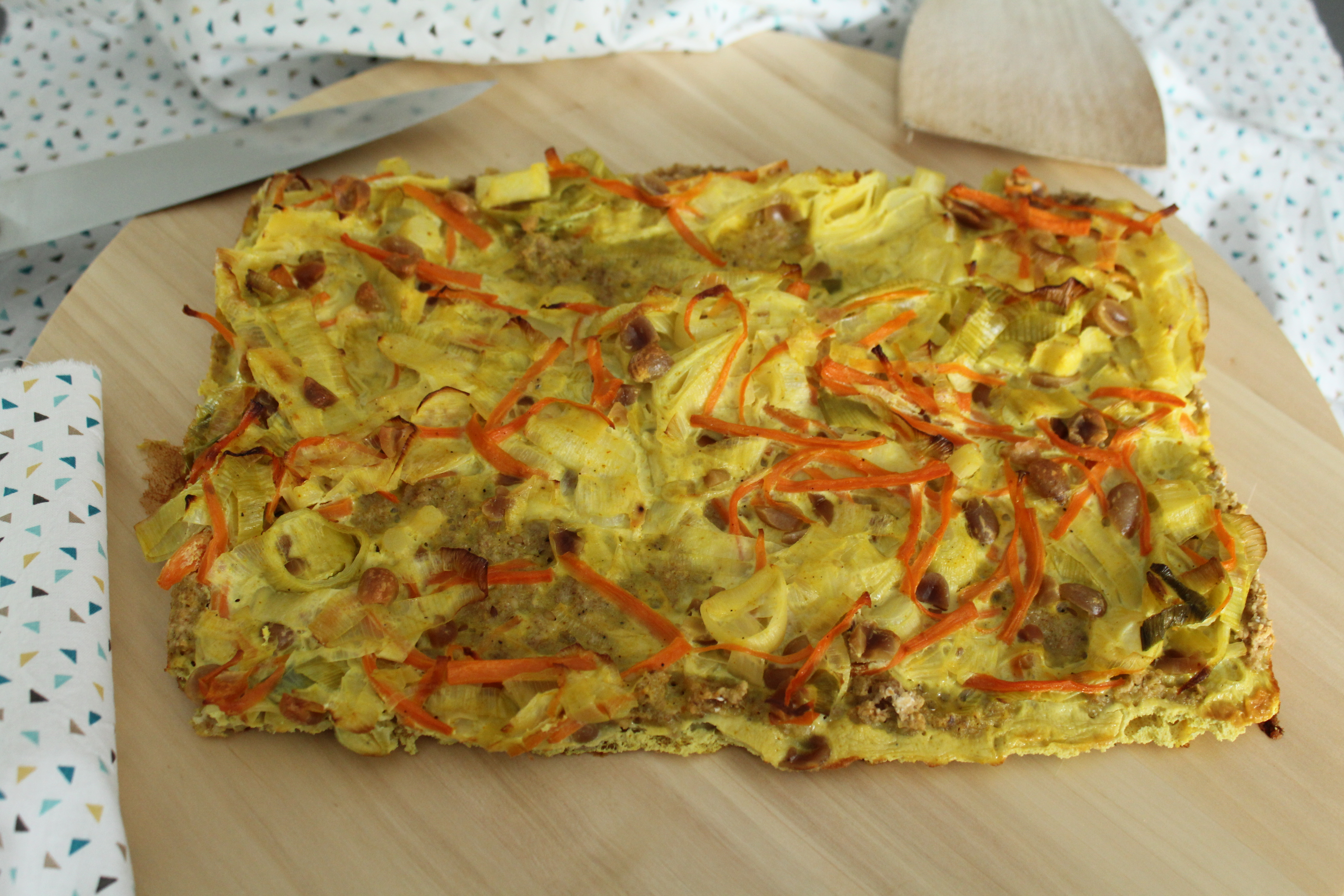 Tarte rustique aux flocons d 39 avoine carottes et poireaux sans plv qui aime cuisiner aime - Tarte aux poireaux sans oeufs ...