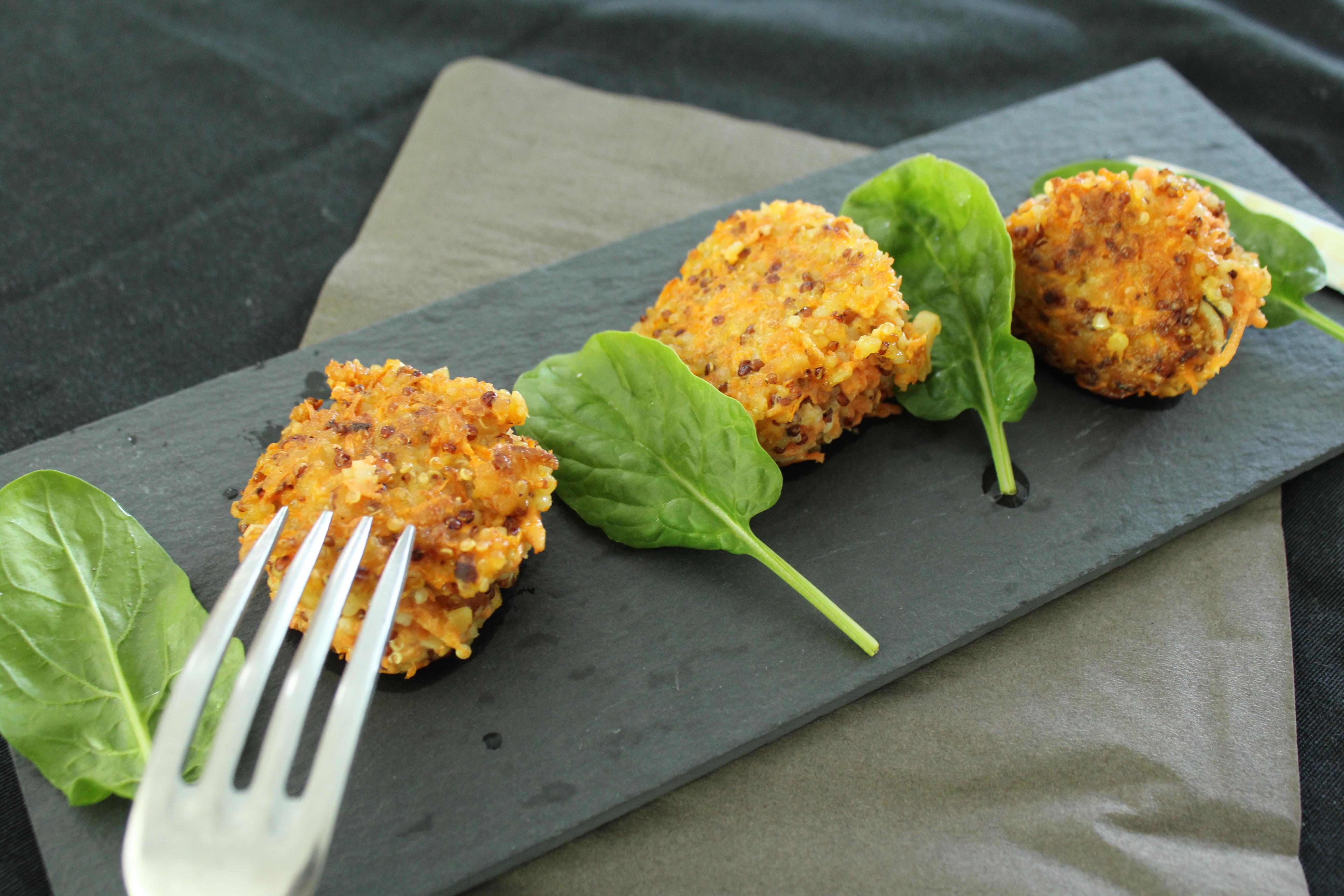 Galettes de quinoa carottes et noisettes sans gluten for Cuisiner quinoa